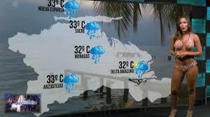 Local weather forcasts with bikini girl