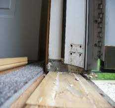 exterior door threshold install. exterior door threshold before removal. removed for installation of new install o