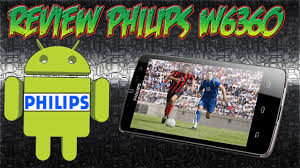 unboxing smartphone philips w6360 - YouTube