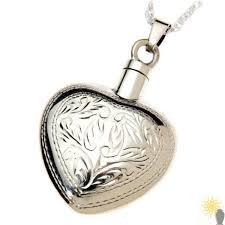 mayfair engraved heart sterling silver ash pendant