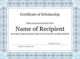 Certificate Of Recognition Template Free Download Certificates Office Com