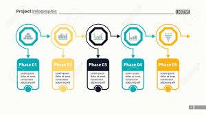 Five Options Process Chart Slide Template Business Data Workflow