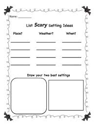writing a scary story graphic organizers by laughingoutloud tpt writing a scary story graphic organizers