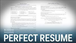 My Perfect Resume A Résumé Expert Reveals What A Perfect Résumé Looks Like YouTube 100