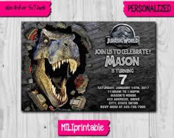 Jurassic Park Invitations Jurassic World Invitation Jurassic World Digital File En