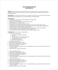 Duties And Responsibilities Of A Cna Sample Cna Job Duties 7 Documents In Pdf Word