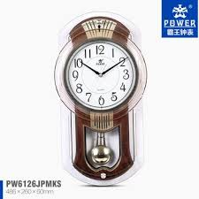 plastic glass craft pendulum wall clock