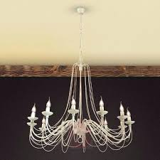 lars 6 light rustic gray french country chandelier style chandeliers