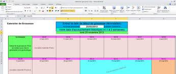 Download Calendrier De Grossesse Excel 1 0 For Windows