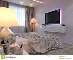 Modern Style Bedrooms 3d Rendering Of Bedroom Interior Design In A Modern Style Stock