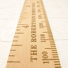 Personalised Height Chart Personalised Beech Nut Engraved Height Chart