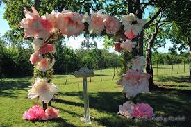 decorated wood arch