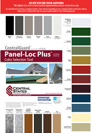 Central States Metal Roofing Color Chart Bowsers Metal Roofing In Arkansas Bowsers Metal Roofing