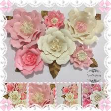 Paper Flower Kit Paper Flower Diy Kit Wall Decor Please Read Announcement In Description