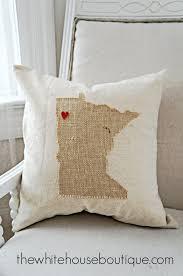 No Sew State Pillow {DIY}