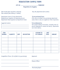 Requisition Form Sample Mtas