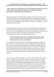 lo assessment essay an introduction to sociology as an academic subject lo4 by kirsty louise champion page 1 ""
