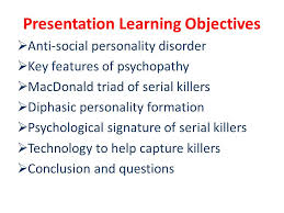psychology of serial killers ppt video online  3 presentation learning objectives