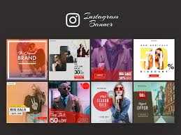 Template For Advertising Instagram Ad Banner Templates Free Psd Template Psd Repo