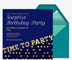 surprise birthday party invite free birthday party invitations for him evite