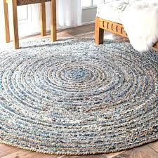 braided rug handmade natural fiber jute and denim round 8 inside rugs for nomad cotton