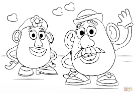Small Picture Mr and Mrs Potato Head coloring page Free Printable Coloring Pages