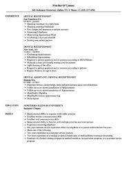 Resume Samples For Receptionist Jobs Gorgeous Resume Front Office Receptionist Resume Samples Velvet Jobs Sample