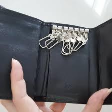 90 gianni valentino genuine leather keychain wallet men s fashion bags wallets on carou