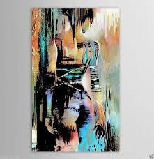 CHENPAT828 100% hand paint <b>abstract girl portrait</b> oil <b>painting</b> ...