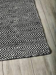 black and white geometric rug uk chevron the collection corner 1