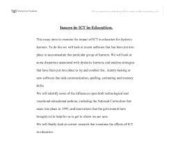 this essay aims to examine the impact of ict in education for document image preview