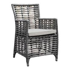 oasis rattan lattice garden chair with light grey cushion dr c03l