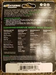 Nockturnal Fit Chart Nockturnal Nt 405 Lighted Nocks Green 3 Pack