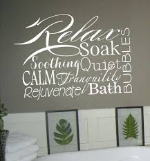 Vinyl Wall Decals For Bathroom Relax Soap Bathroom Wall Art ...
