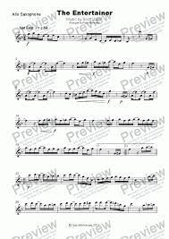 In addition to the haunting tune, there are subtle supportive ensemble figures that weave a rich. The Entertainer By Scott Joplin For Alto Saxophone And Piano Pdf