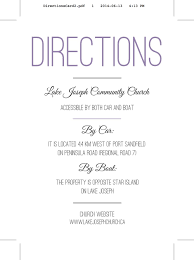 Directions Template Wedding Invitation Inserts Directions Templates Wedding