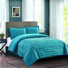 teal comforter ruffle set full queen light twin