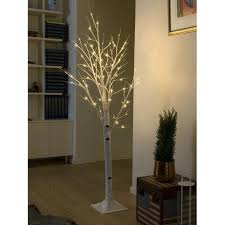 LED Decorative White Birch Tree with 72 ...