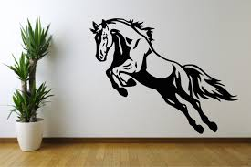 on horse wall decor stickers with horse wall stencil choice image home design wall stickers