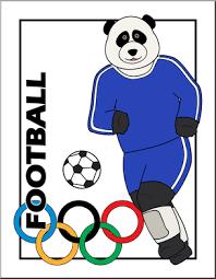football fan clipart. clip art: cartoon olympics: panda football color i abcteach.com - preview 1 fan clipart