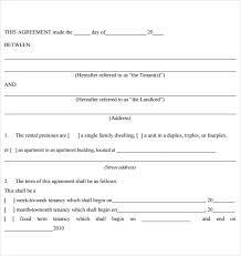 Blank Rental Application Tenant Rental Agreement Template