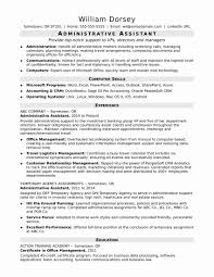 Administrative Assistant Resume Template Microsoft Word Lovely