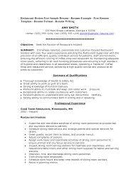 Resume Hostess Resume Sample Brefash Restaurant Skills Resume