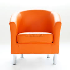 ebay uk faux leather dining chairs. sentinel foxhunter modern tub chair armchair pu faux leather chrome leg dining orange new ebay uk chairs