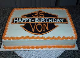 Harley Davidson Cake Decorations Single Tier Cakes Birthdays Anniversaries Etc Visions In Cake