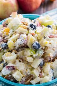 creamy fruit salad recipe. Plain Recipe Creamy Fruit Salad With Coconut And Pecans Throughout Recipe
