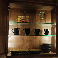 glass cabinet lighting. Cabinet Lighting Glass Shelves E