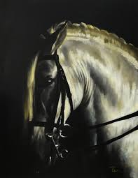 saatchi art artist tem dobrinova painting portrait of the white horse