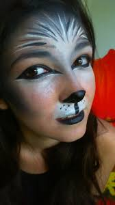 pics of wolf makeup now after i was finished with the makeup i had an idea to get a