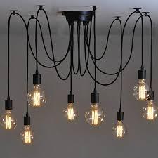 Mutiple Led Hanglampen Moderne Vintage Slaapkamer E27 Houder